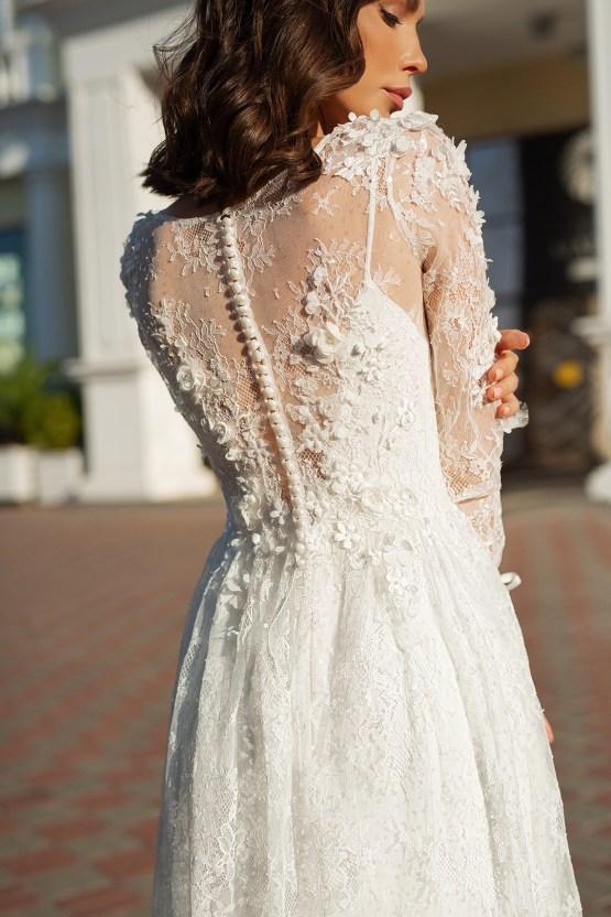 Feminine Simple Minimalistic Wedding Dresses by Mila Bridal 2020 2021 – Bridal Musings 38