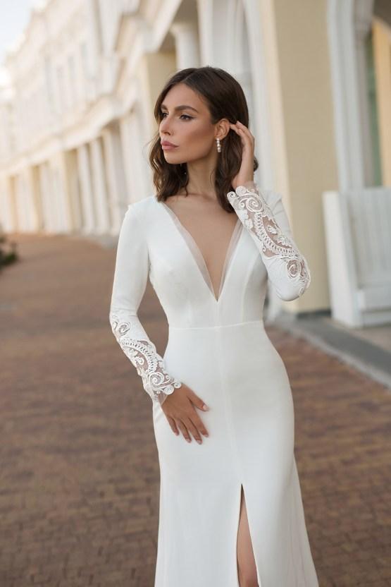 Feminine Simple Minimalistic Wedding Dresses by Mila Bridal 2020 2021 – Bridal Musings 40