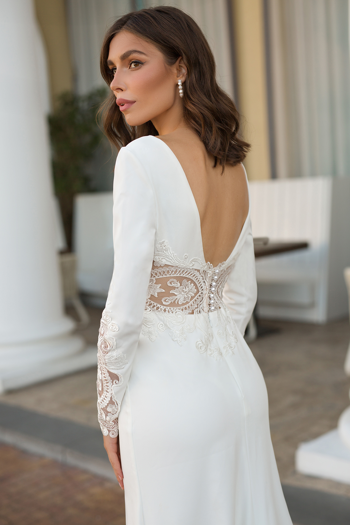 Feminine Simple Minimalistic Wedding Dresses by Mila Bridal 2020 2021 – Bridal Musings 41