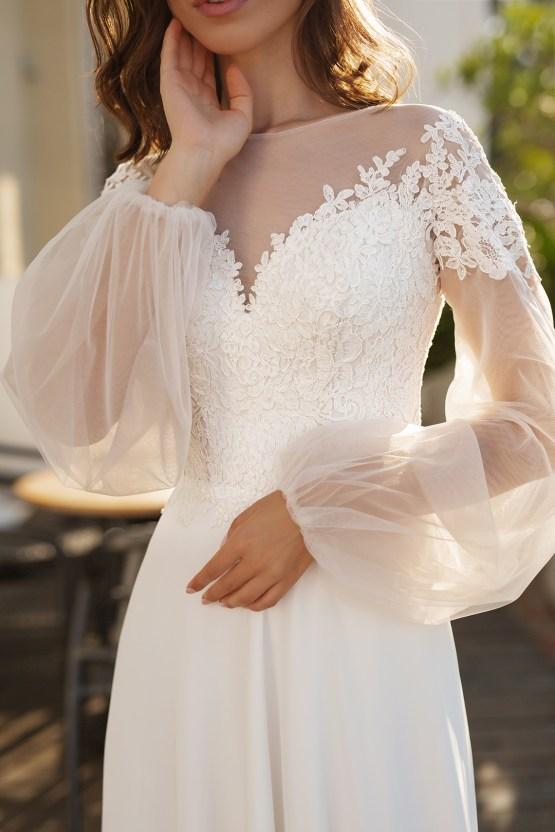 Feminine Simple Minimalistic Wedding Dresses by Mila Bridal 2020 2021 – Bridal Musings 44