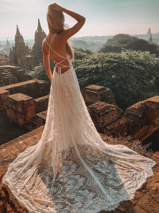 Flora and Lane Giselle Boho Wedding Dress – The Best Wedding Dress Designer Shops on Etsy 3