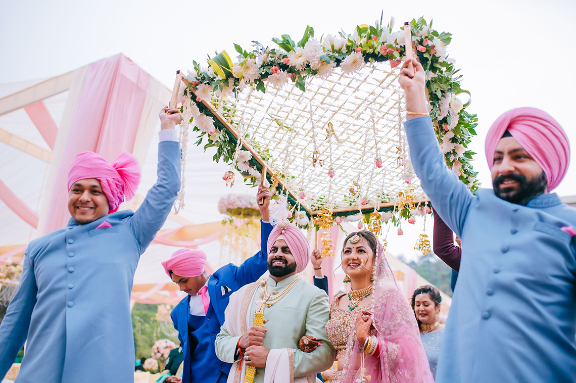 A Jubilant Colorful Three Day Wedding In Punjab India Bridal Musings