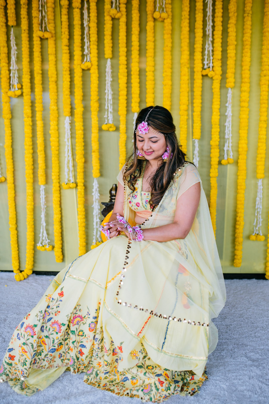 Gorgeous and Joyous Traditional Indian Wedding – Beginnings For You Photography – The Haldi 1