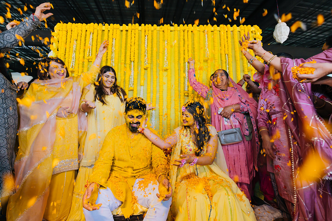 Gorgeous and Joyous Traditional Indian Wedding – Beginnings For You Photography – The Haldi
