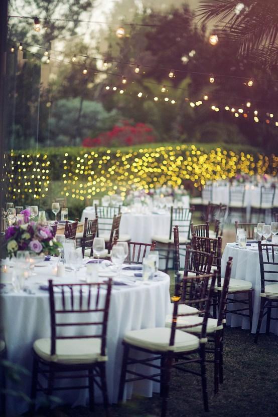 Celebration String Lights Wedding Reception