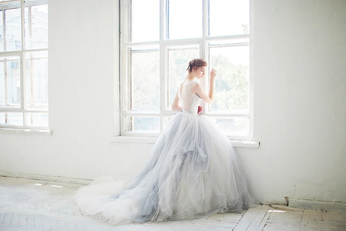Mywony Bridal Tulle Gardenia Wedding Dress – The Best Wedding Dress Designer Shops on Etsy 2