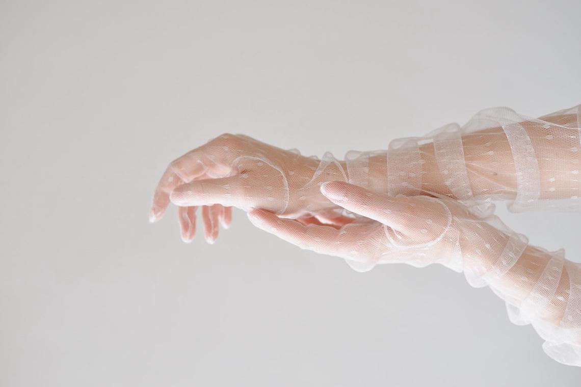 Sheer Bridal Gloves – Bridal Musings – Wedding Gloves for Coronavirus Era Weddings