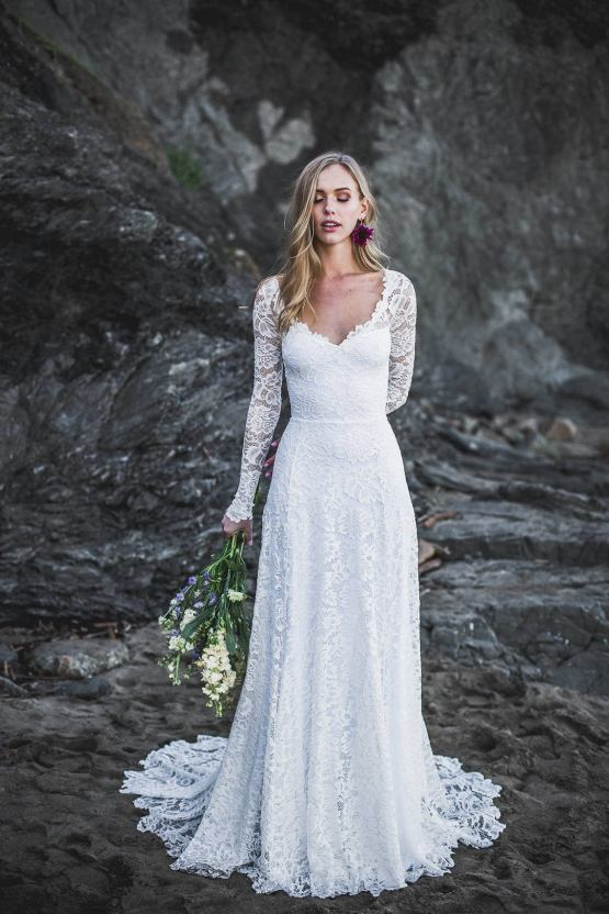 Wear Your Love XO Indigo lace sleeve wedding dress – The Best Wedding Dress Designer Shops on Etsy 2