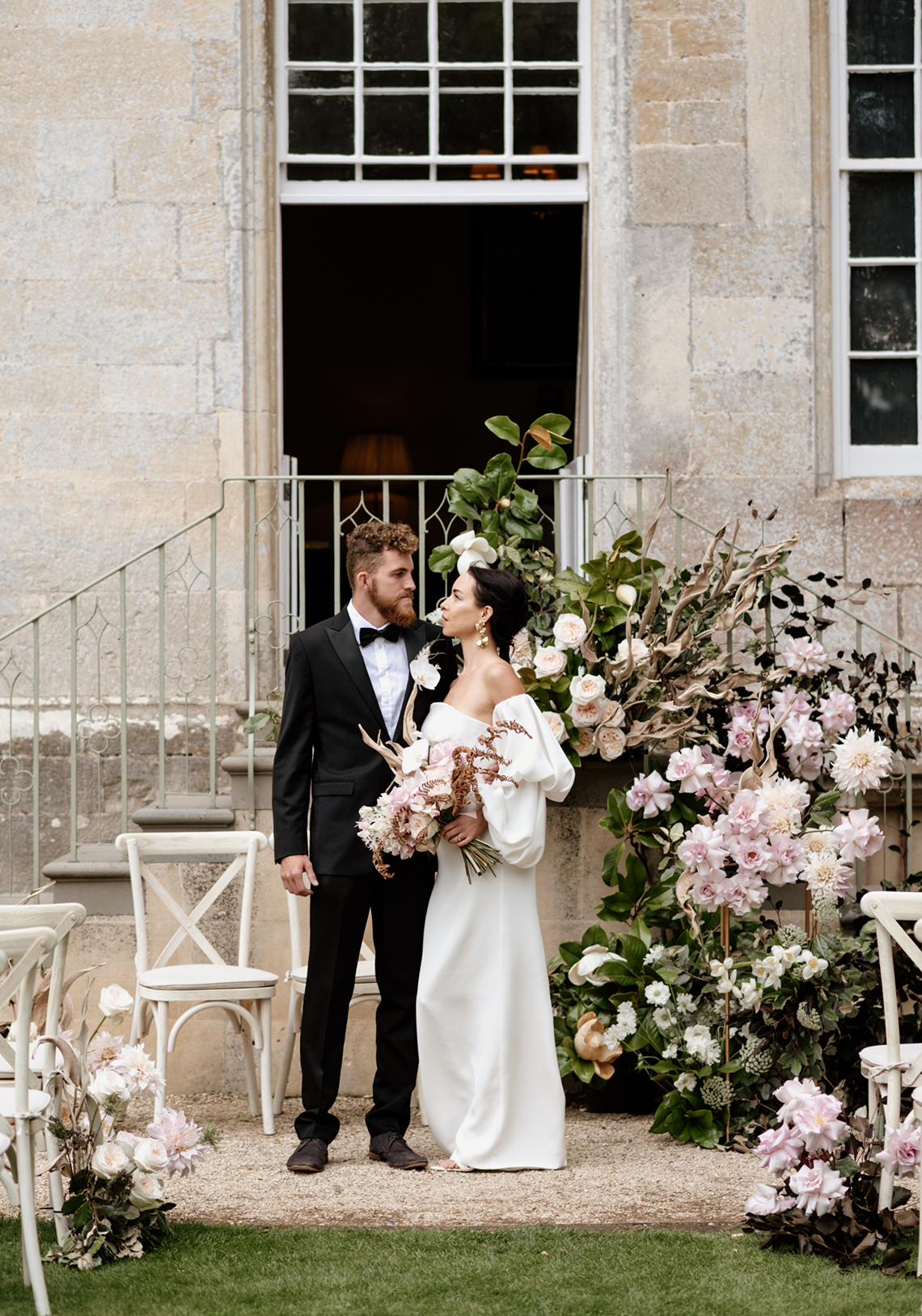 Fashion-forward Countryside Wedding Inspiration – Elmore Court – Laura Martha Photography 21