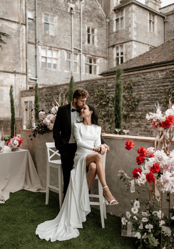 Fashion-forward Countryside Wedding Inspiration – Elmore Court – Laura Martha Photography 38