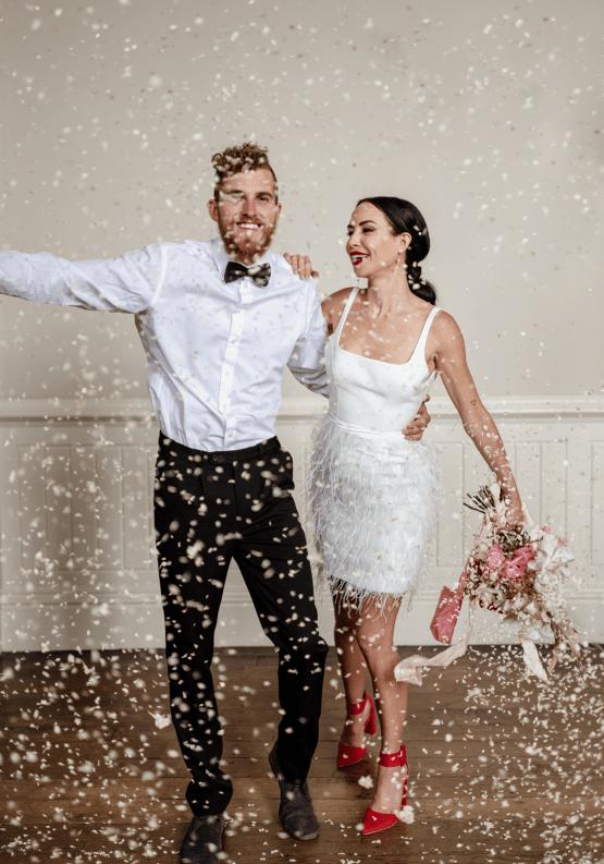 Fashion-forward Countryside Wedding Inspiration – Elmore Court – Laura Martha Photography 69