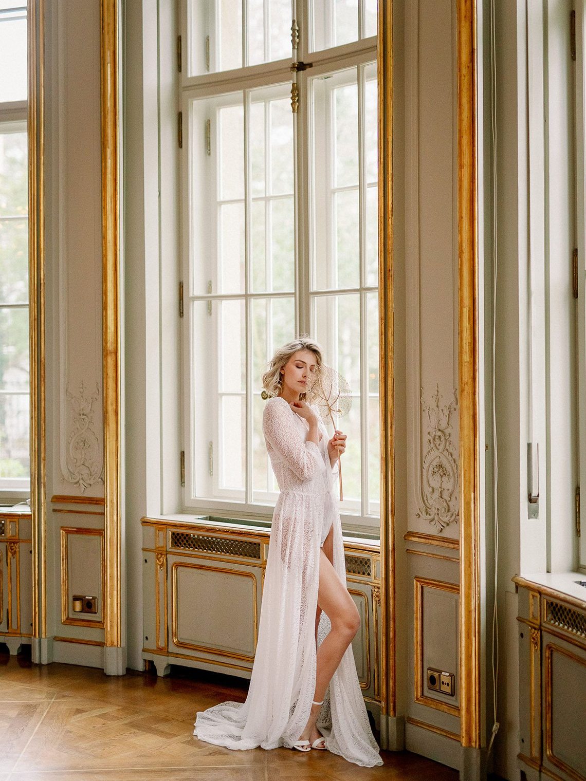 Luxurious Same Sex Wedding Inspiration at Roccoco Palace – Miss Universe Germany – BERTA wedding dress – Vivid Symphony 12