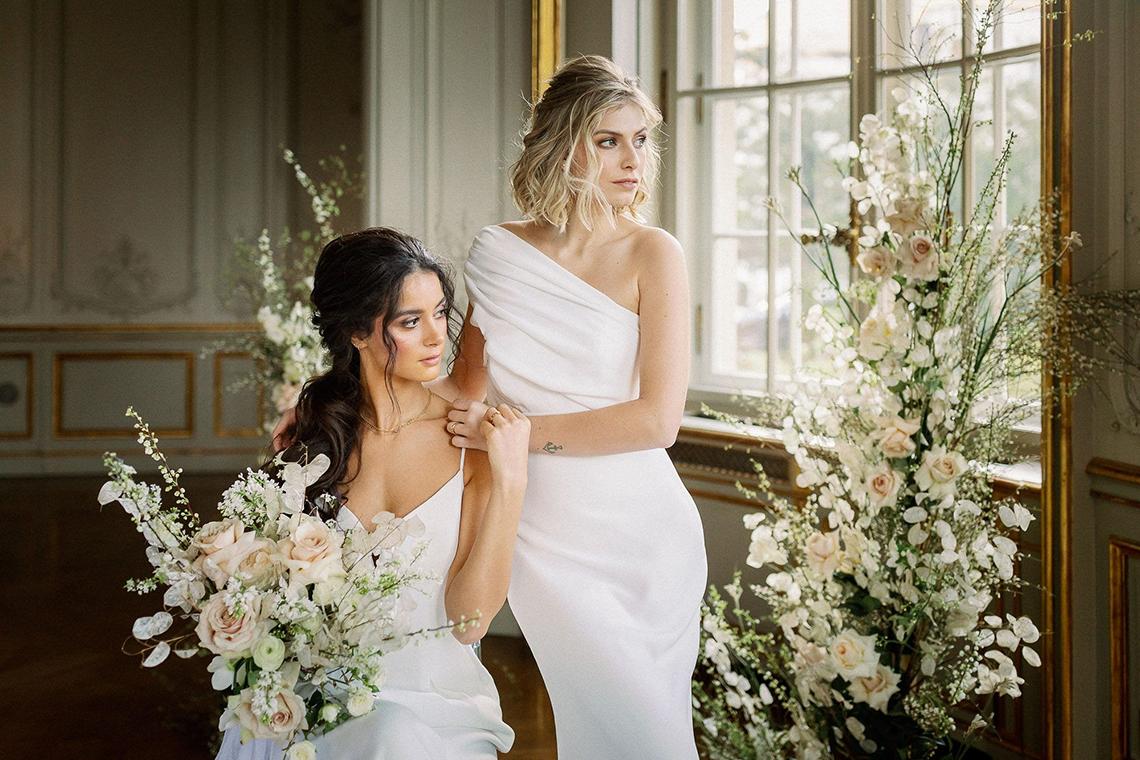 Luxurious Same Sex Wedding Inspiration at Roccoco Palace – Miss Universe Germany – BERTA wedding dress – Vivid Symphony 3