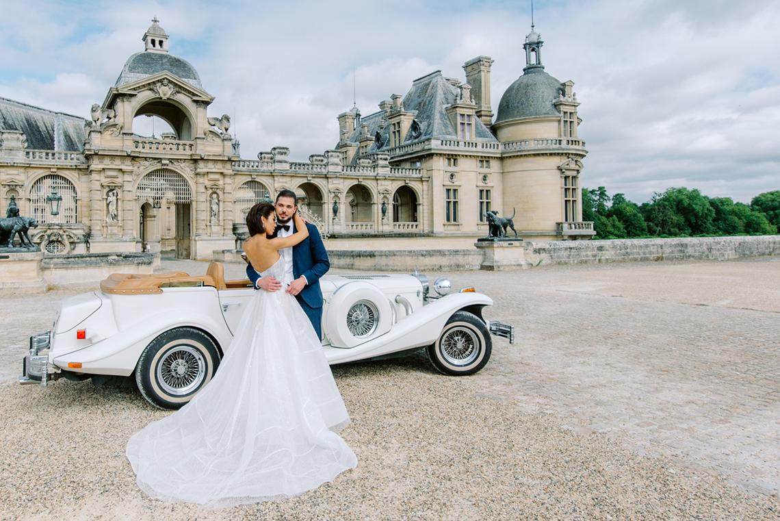 Princess Wedding Inspiration from France – Chateau Chantilly – Elizaveta Photography 2