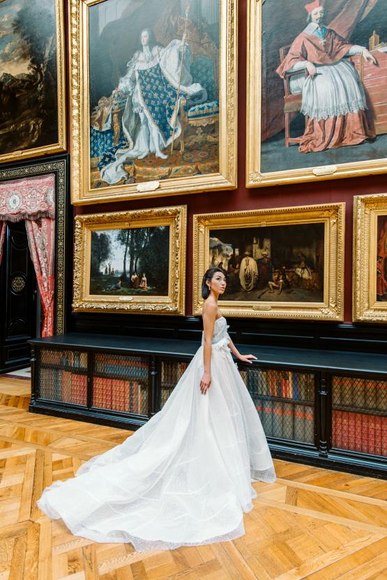 Princess Wedding Inspiration from France – Chateau Chantilly – Elizaveta Photography 25