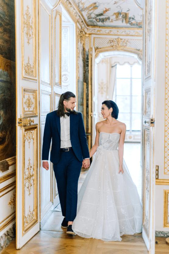 Princess Wedding Inspiration from France – Chateau Chantilly – Elizaveta Photography 31