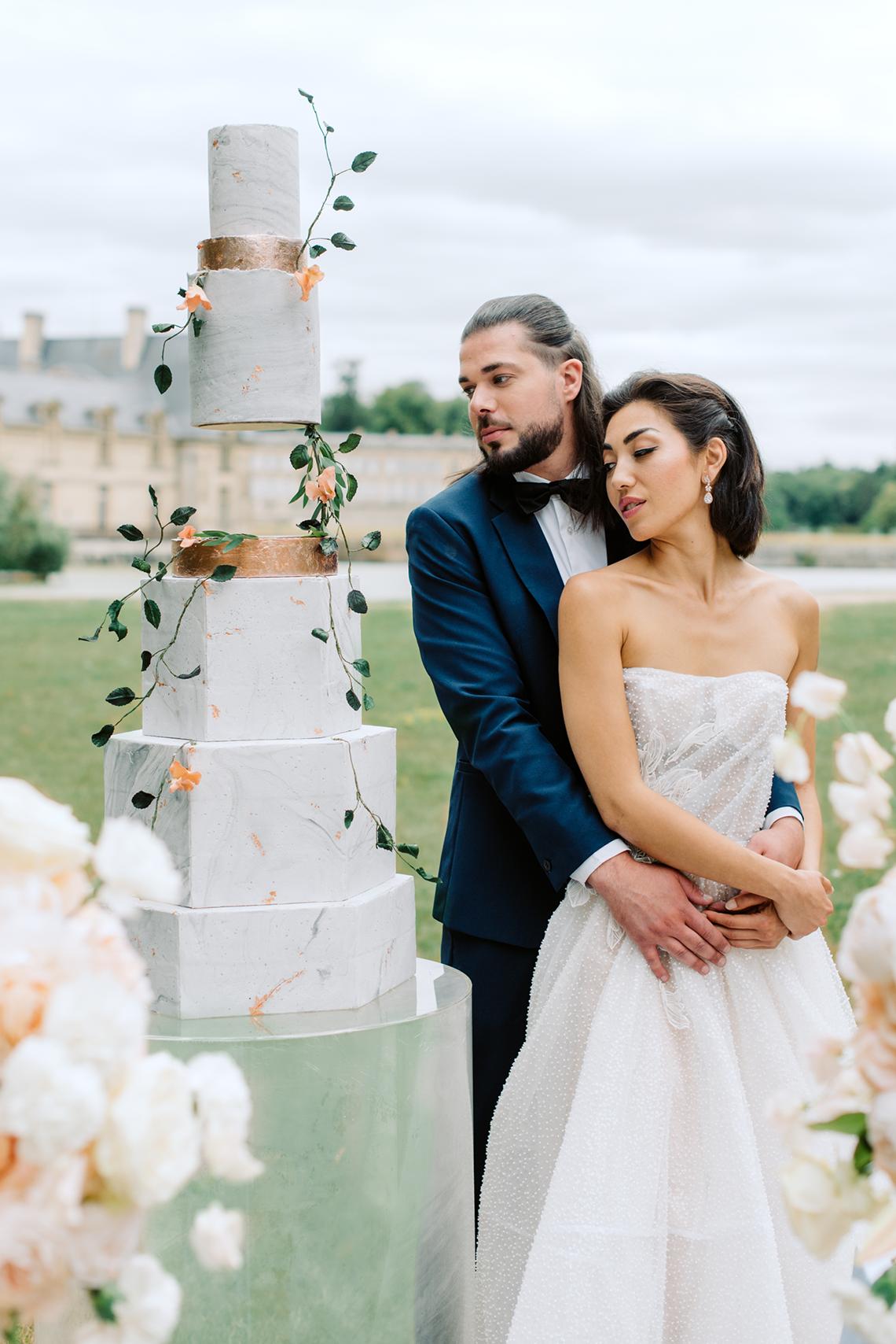 Princess Wedding Inspiration from France – Chateau Chantilly – Elizaveta Photography 41