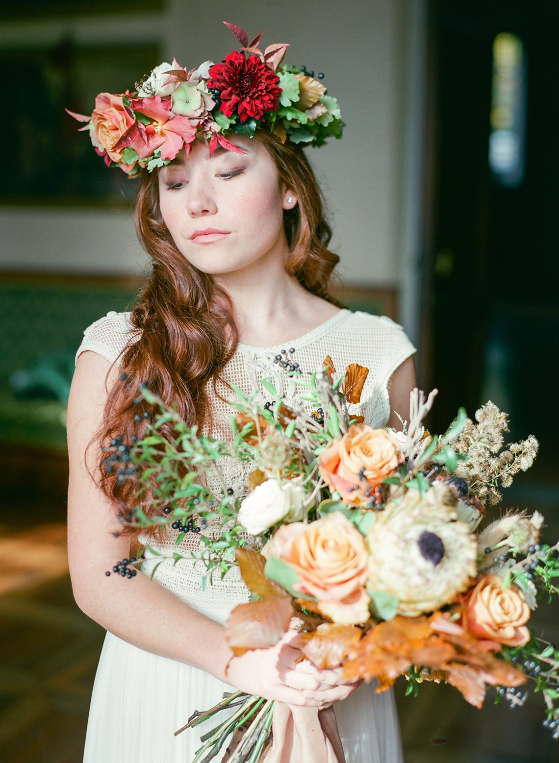 Rustic Vintage Bridal Inspiration in Tuscany Perfect for Fall Weddings – Antonis Prodromou – Villa Di Maiano 19