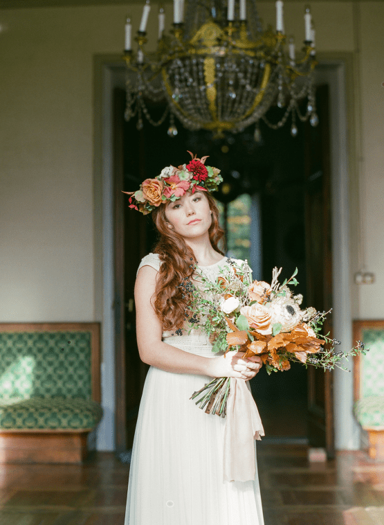 Rustic Vintage Bridal Inspiration in Tuscany Perfect for Fall Weddings – Antonis Prodromou – Villa Di Maiano 20