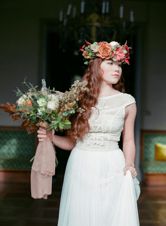 Rustic Vintage Bridal Inspiration in Tuscany Perfect for Fall Weddings – Antonis Prodromou – Villa Di Maiano 38