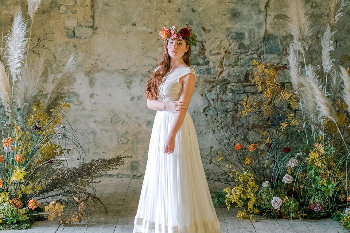 Rustic Vintage Bridal Inspiration in Tuscany Perfect for Fall Weddings – Antonis Prodromou – Villa Di Maiano 4