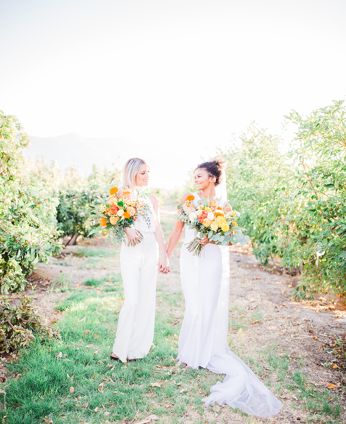 Same Sex Wedding Inspiration with Bright Citrus Decor – Alycia Moore Photography 19