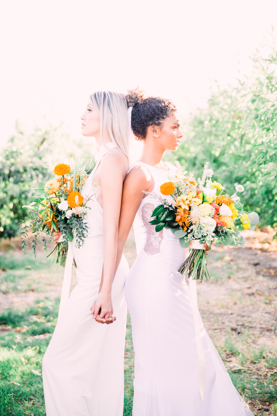 Same Sex Wedding Inspiration with Bright Citrus Decor – Alycia Moore Photography 24