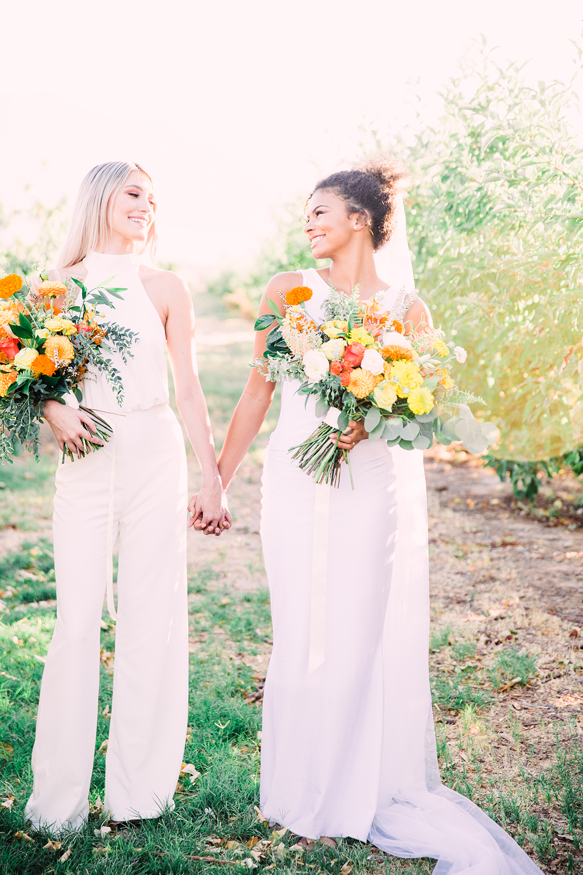 Same Sex Wedding Inspiration with Bright Citrus Decor – Alycia Moore Photography 26