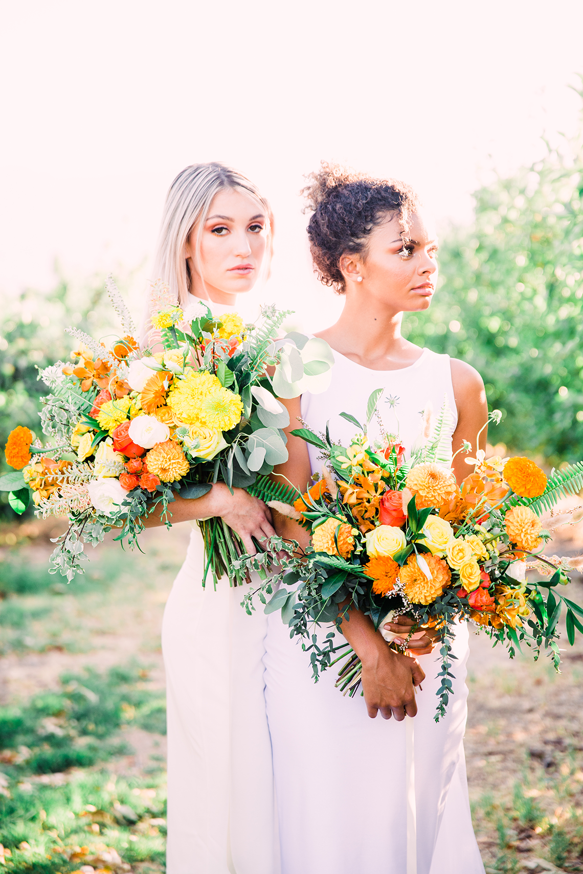 Same Sex Wedding Inspiration with Bright Citrus Decor – Alycia Moore Photography 29