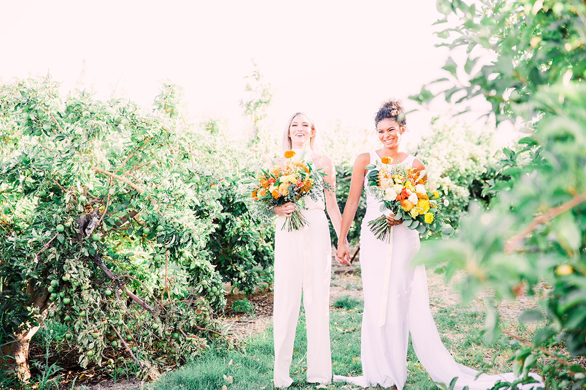 Same Sex Wedding Inspiration with Bright Citrus Decor – Alycia Moore Photography 4