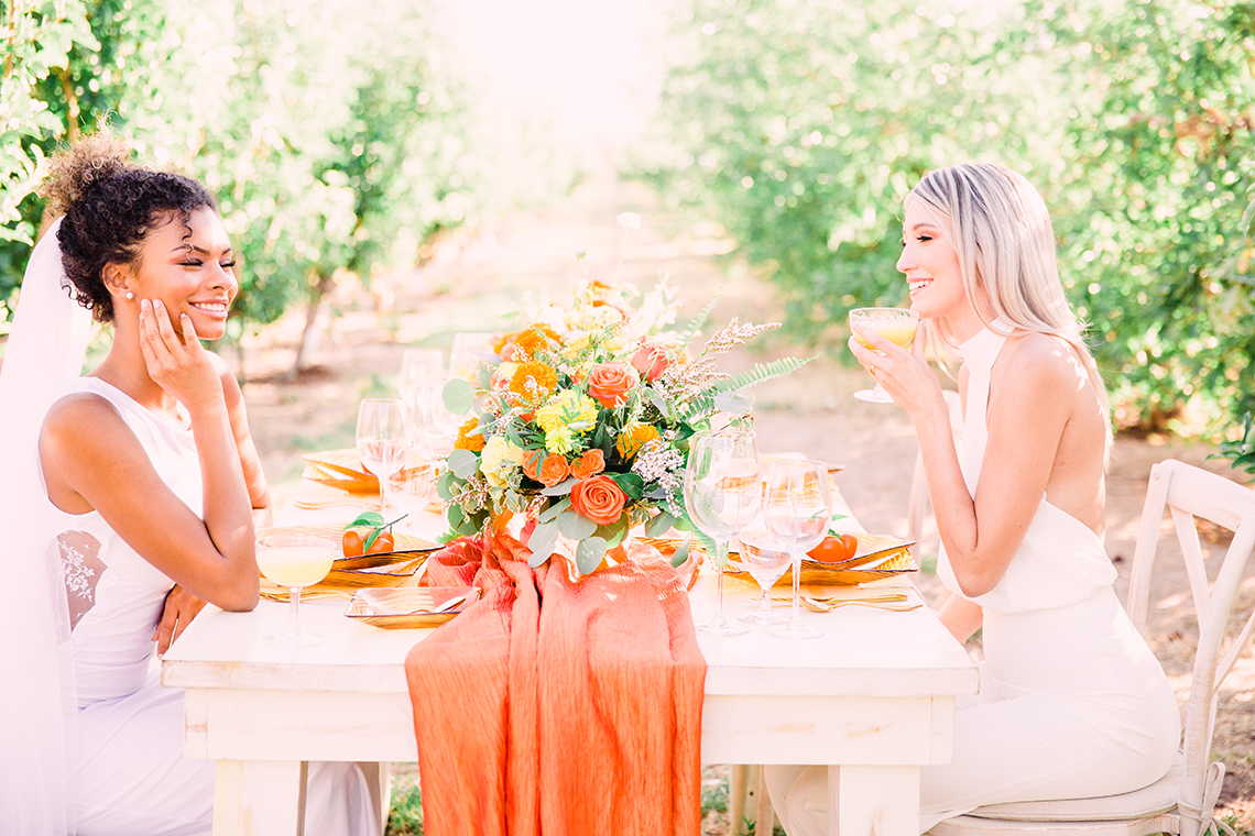 Same Sex Wedding Inspiration with Bright Citrus Decor – Alycia Moore Photography 7