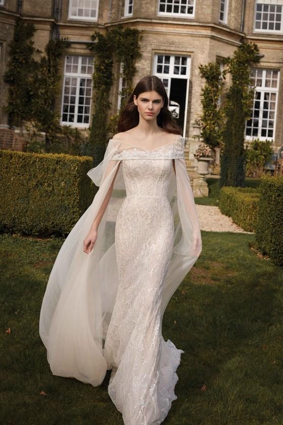Stunning New 2021 Gala X Wedding Dresses by Galia Lahav – Bridal Musings – G-509-F-cape