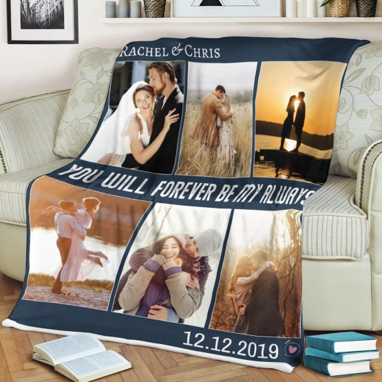 Custom Photo Blanket – 365Canvas – Personalized Wedding Gifts for Engaged Couples – Bridal Musings