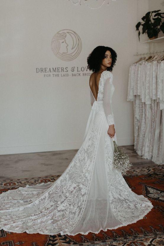 Dreamers and Lovers New Bohemian Wedding Dresses and LA Flagship Bridal Salon – Bridal Musings – Esther Boho Wedding Dress 1