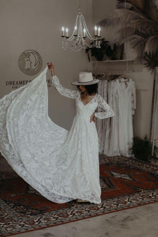 Dreamers and Lovers New Bohemian Wedding Dresses and LA Flagship Bridal Salon – Bridal Musings – Francesca Boho Wedding Dress 3