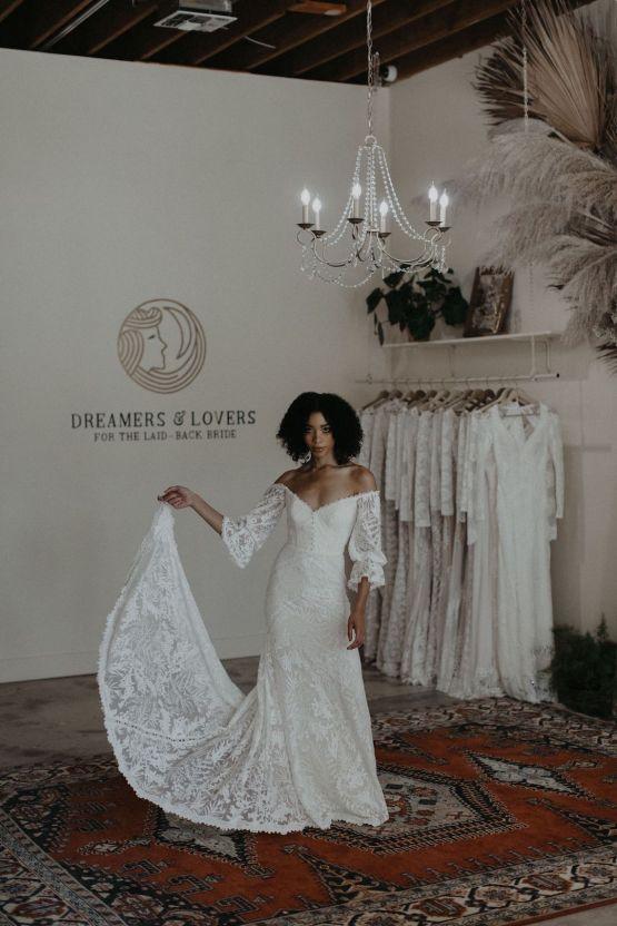 Dreamers and Lovers New Bohemian Wedding Dresses and LA Flagship Bridal Salon – Bridal Musings – Naomi Boho Wedding Dress 4