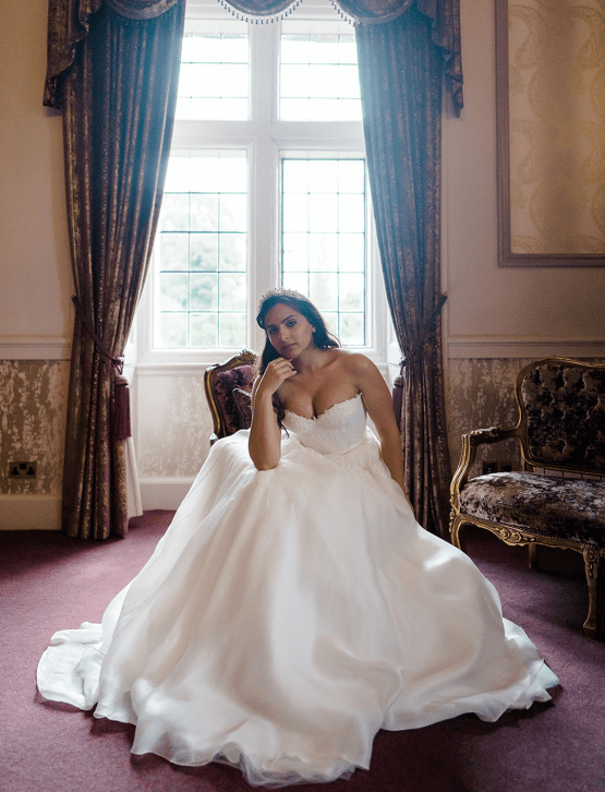 Fairytale Royal English Wedding Inspiration at Clearwater Castle – Sara Cooper Photography – Smitten Weddings 13