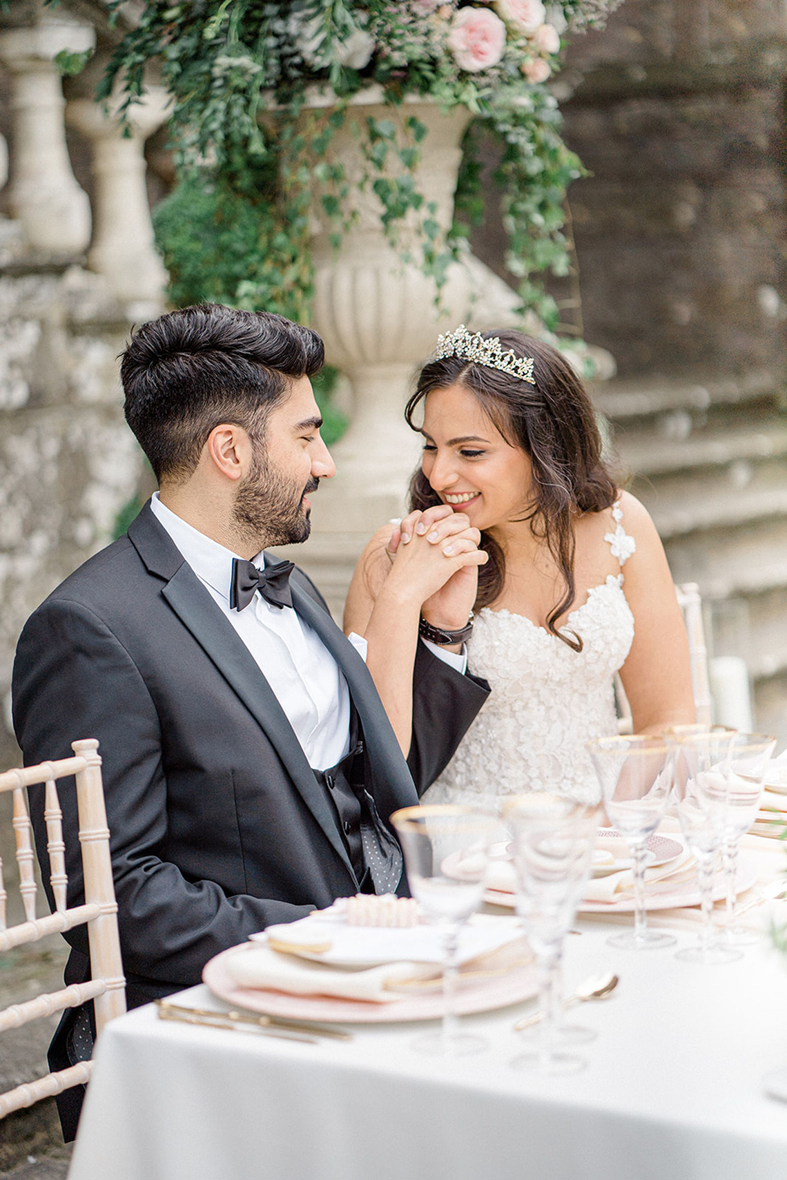Fairytale Royal English Wedding Inspiration at Clearwater Castle – Sara Cooper Photography – Smitten Weddings 19