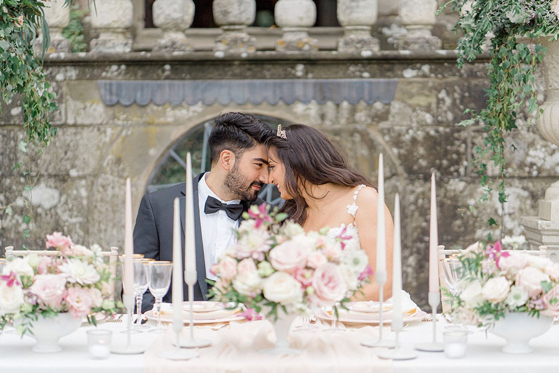 Fairytale Royal English Wedding Inspiration at Clearwater Castle – Sara Cooper Photography – Smitten Weddings 3