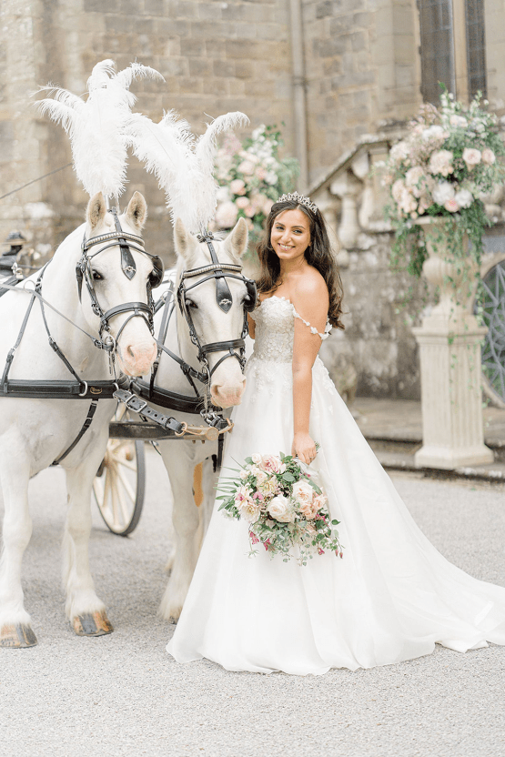 Fairytale Royal English Wedding Inspiration at Clearwater Castle – Sara Cooper Photography – Smitten Weddings 33