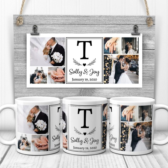 Wedding Photo Collage Mug – 365Canvas – Personalized Wedding Gifts for Engaged Couples – Bridal Musings