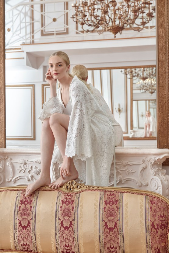 Sareh Nouri Luxurious Lace Bridal Robes – Bridal Musings – Florentine Robe 1