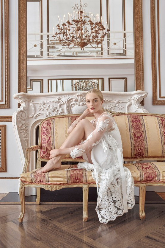Sareh Nouri Luxurious Lace Bridal Robes – Bridal Musings – Nour Robe 1