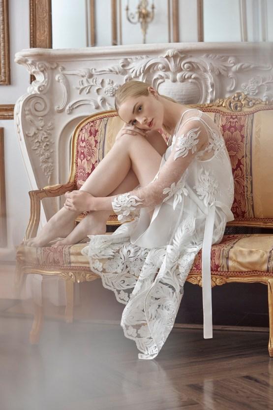 Sareh Nouri Luxurious Lace Bridal Robes – Bridal Musings – Nour Robe 3