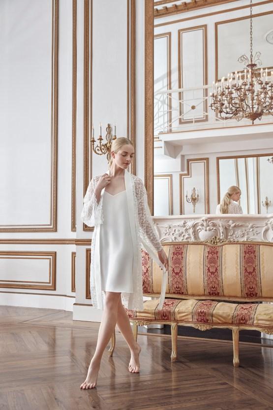 Sareh Nouri Luxurious Lace Bridal Robes – Bridal Musings – Robin Robe 1