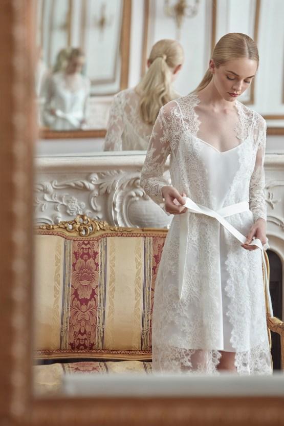 Sareh Nouri Luxurious Lace Bridal Robes – Bridal Musings – Sarabeth Robe 2