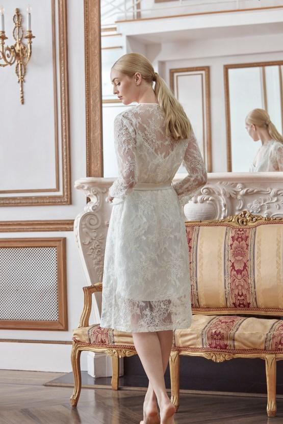 Sareh Nouri Luxurious Lace Bridal Robes – Bridal Musings – Sarabeth Robe 3