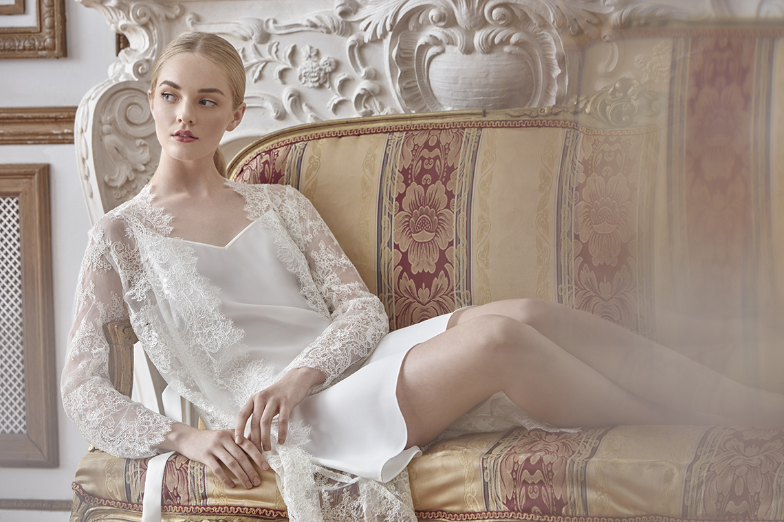 Sareh Nouri Luxurious Lace Bridal Robes – Bridal Musings – Sarabeth Robe 5