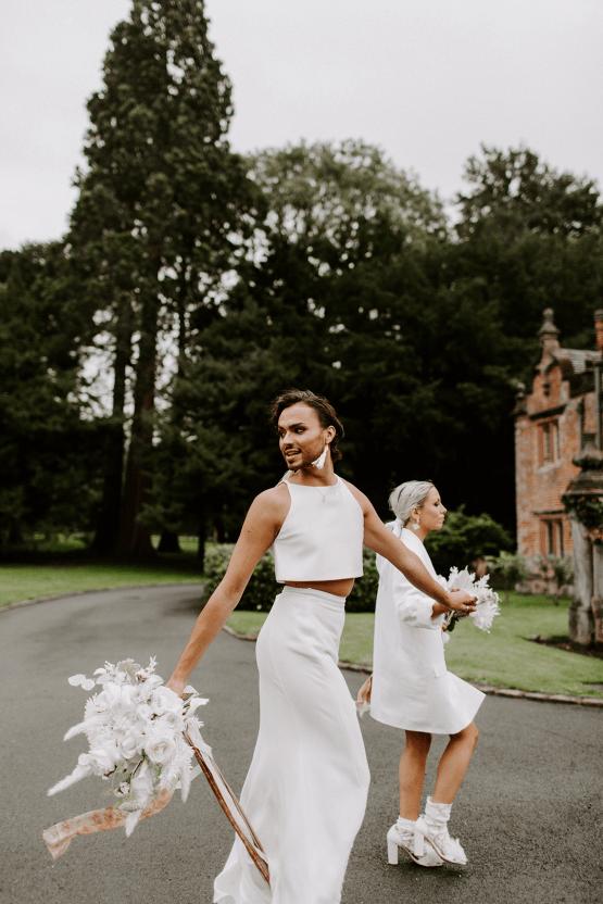 Gender Fluid Wedding Inspiration at Dorfold Hall – Phoebe Jane Photography 43