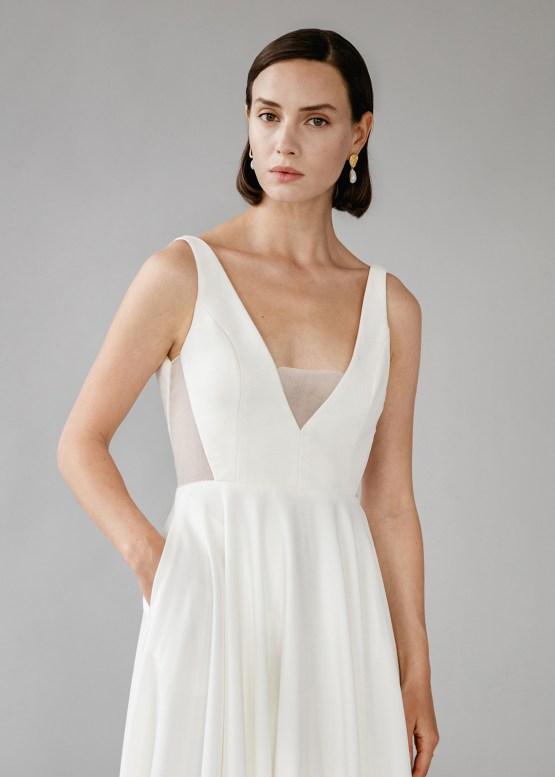 Modern Minimalist 2021 Wedding Dresses by Aesling Bride – Aurora Dress 1